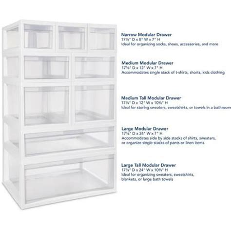 Sterilite Modular Drawer by 17 Best Ideas About 3 Bathroom Drawer Tower Unit On