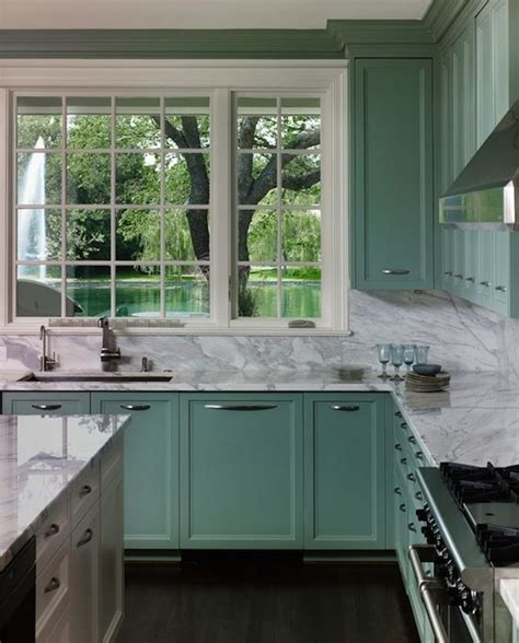 seafoam green kitchen cabinets 129 best images about beautiful non white kitchens on