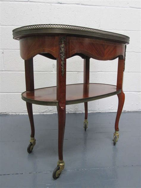 bar with marble top french marble top two tier rolling bar cart for sale at