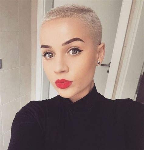 womens buzzed and bold haircuts buzzcut stylish short haircut ideas from pinterest