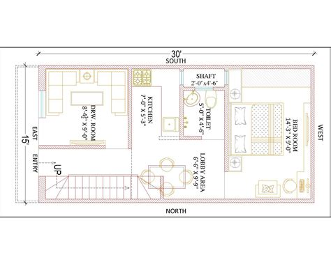 15 x 30 house plans pictures to pin on pinsdaddy - Wandschrank 30 X 30