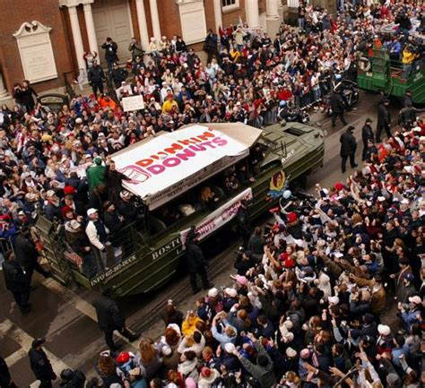 patriots duck boat parade corporations carry the costs of bruins duck boat parade