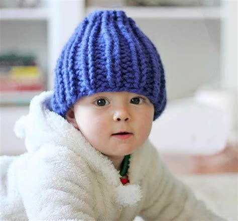 baby beanie pattern knit blueberry fields baby hat allfreeknitting