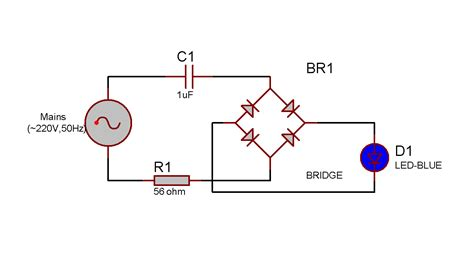 circuit rectifier ac dc technonicbox led lit from mains