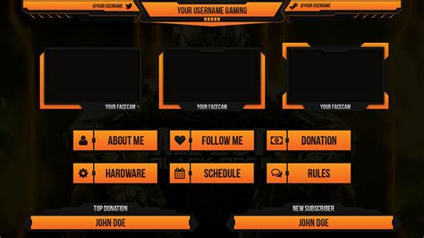 twitch business card templates custom twitch overlay twitch overlay