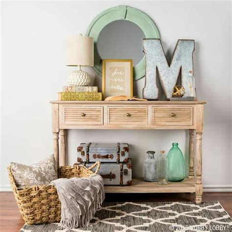 hobby lobby entry table coastal entryway via hobby lobby coastal style