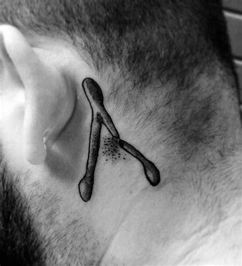 wishbone tattoo behind ear 40 wishbone tattoo designs for men forked bird bone ideas