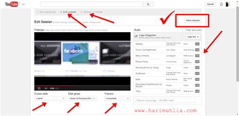 cara membuat facebook youtube cara membuat video dengan slide foto di youtube catatan