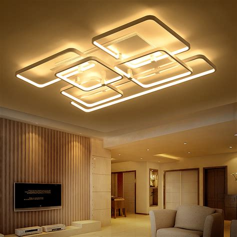 Aliexpress Com Buy Square Surface Mounted Modern Led Ceiling Light For Living Room