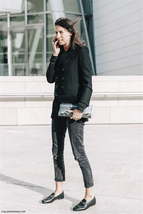 Mannish Chic At Fashion Week by Fashion Week Style 7 Collage Vintage