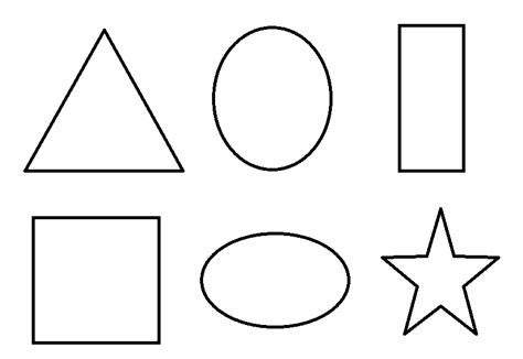 shaped templates shapes to color coloring pages