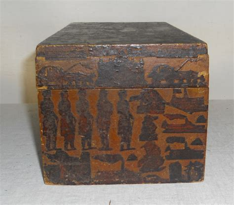 Decoupage Boxes For Sale - early 19th century late 18th century decorated decoupage