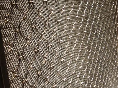 metal mesh drapery decorative ring mesh curtain ss bronze