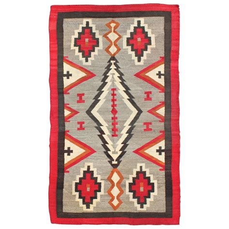 antique navajo rug with geometric design for sale at 1stdibs