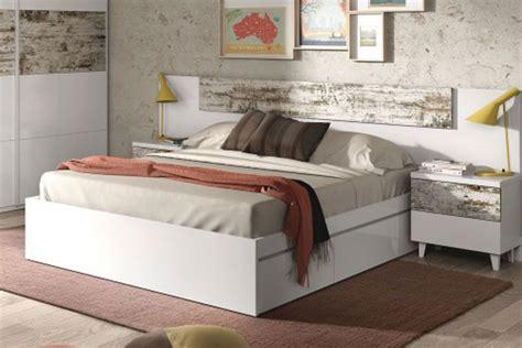 cama vintage dormitorio matrimonio con cama de 4 cajones vintage