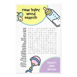 baby shower word search stationery zazzle