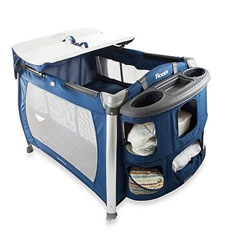 Playard With Changing Table Joovy 174 Room Playard In Blueberry Bed Bath Beyond