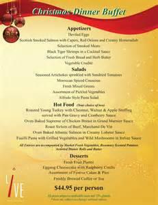 Download the christmas dinner buffet menu
