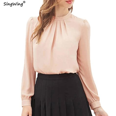 K Blouse singwing chiffon blouses sleeve casual blouse tops solid color s clothing