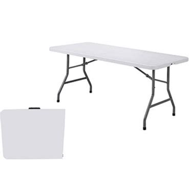 6 Foot Plastic Folding Table 6 Ft Plastic Folding Table At Mills Fleet Farm