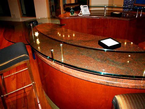 clear bar top raised plain glass countertop rb 21 cbd glass