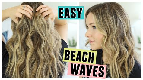 easiest way to get height on hair easy beach waves hair how i style my hair youtube
