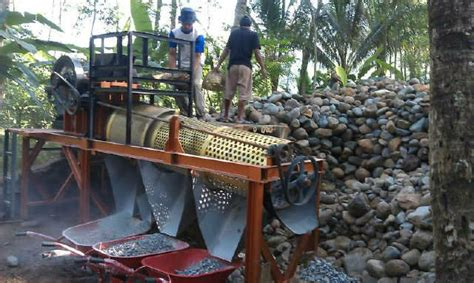 Mesin Pemecah Batu Mobil Portable mesin pemecah batu koral portabel