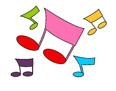 imagenes de notas musicales kawaii dibujo de notas musicales pintado por lionora en dibujos