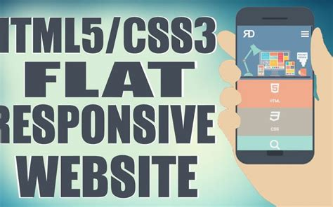 Html5 Css3 Responsive Web Designing Tutorial 2016 | html5 css3 flat responsive website start to finish web