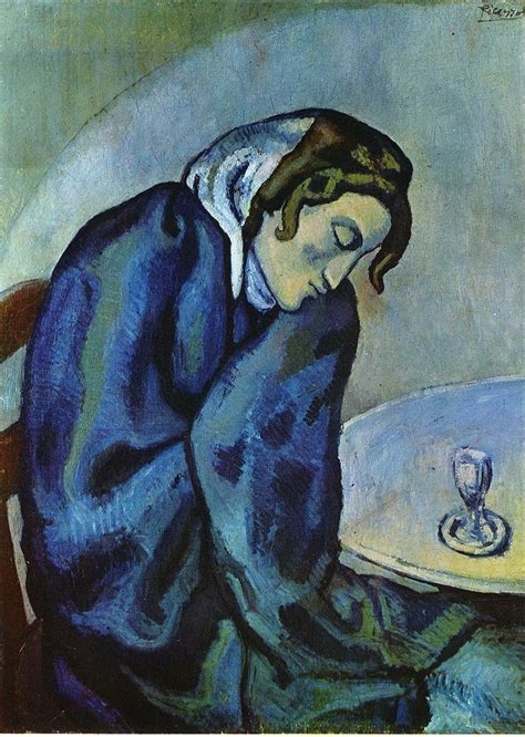 picasso expressionism paintings is tired 1902 pablo picasso wikiart org