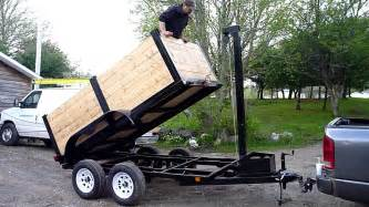 home built cer trailer home made dump trailer