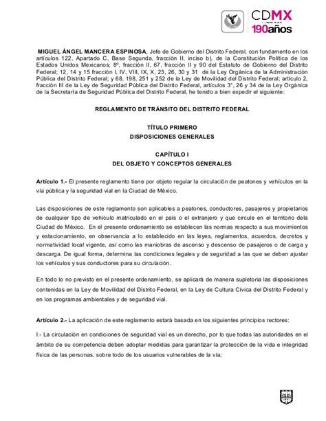 reglamento transito edo de mex 2016 pdf descarga el nuevo reglamento de tr 225 nsito