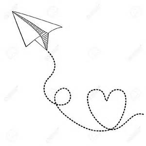 Paper Airplane - paper plane drawing paper airplanes drawings paper