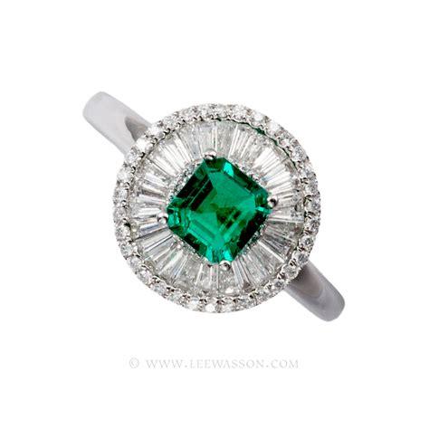 emerald ring square cut emerald set in 18k
