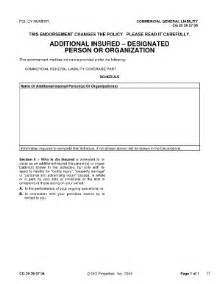 form additional insured fill online printable fillable