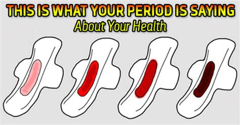 what color should period blood be this is what your period is saying about your health