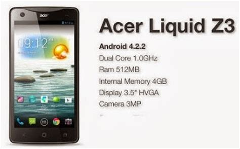 Hp Acer Android Jelly Bean Murah acer liquid z3 android jelly bean murah rp 700 ribuan