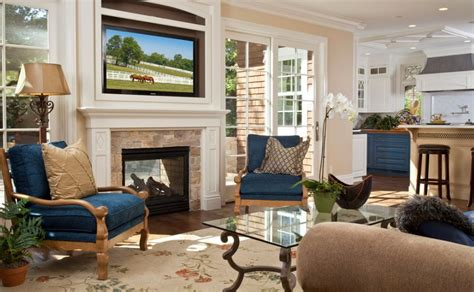 living room with fireplace and tv how to decorate and organize the space around a fireplace