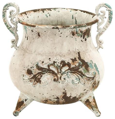 Vintage Looking Vases by Vintage Style Kettle Metal Vase Rustic Antique Indoor