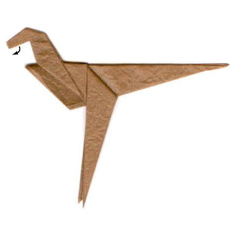 Velociraptor Origami - how to make a simple origami velociraptor page 6
