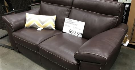 costco sofa leather natuzzi leather loveseat costco weekender