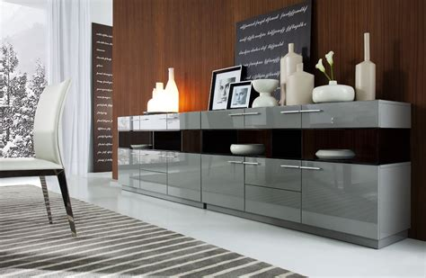 Modern Dining Room Buffet Daytona Modern Grey Gloss Buffet Buffet Dining Room Buffet And Modern Buffet