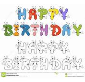 Letras Dos Desenhos Animados Do Feliz Aniversario