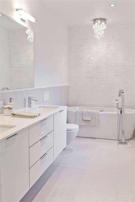 white modern bathroom best 25 white bathrooms ideas on pinterest white