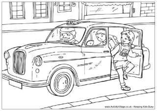 London Colouring Pages S Dessin Coloriage Taxi De New YorkL