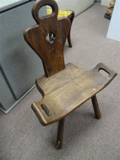 Antique Birthing Chair by Solid Wood Finish Antique Birthing Chair Pleasant