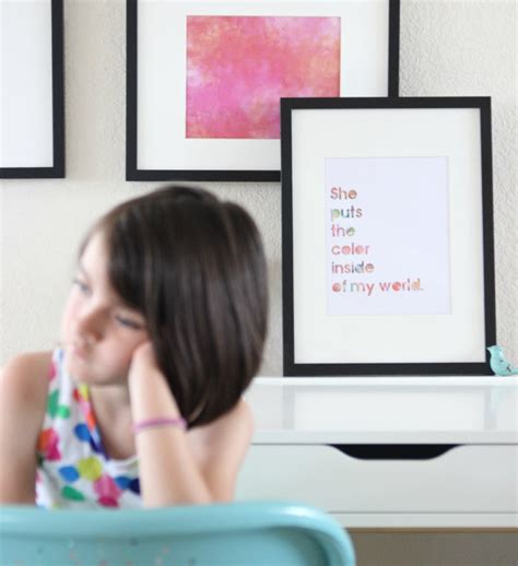 i a she puts the color simple diy watercolor wall watercolors growing up