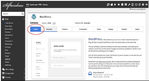 tutorialspoint wordpress cpanel installing wordpress