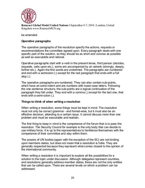 Letter Of Agreement Undp Rotaract Global Model United Nations 2014