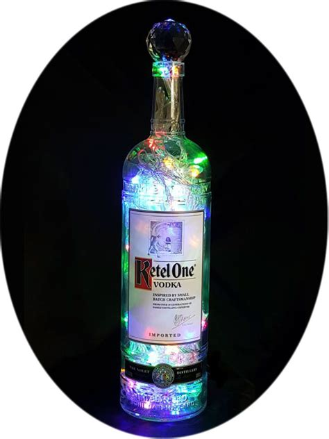 light with vodka ketel one liquor bottle light the bottle upcycler